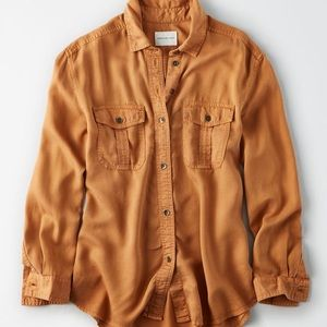 American eagle military button up shirt
